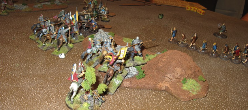 """My Warlord and a small Hearth guard secure the center bit of """"Sacred ground"""""""