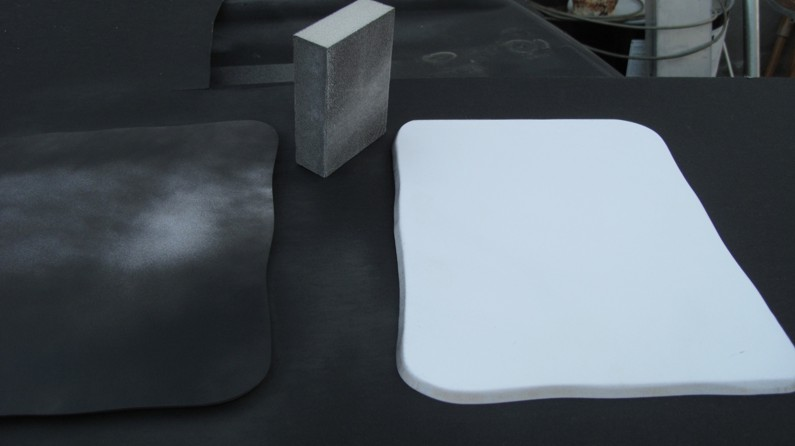 """Base's re-cut with with a gentle curving pattern and the edges """"softened"""" with the sanding block."""