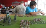 my first opponent James and his Skraelings....